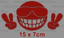 Be Cool Smiley Aufkleber Fun Sticker Peace Decal Wandtattoo Folie