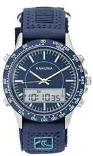 KAHUNA MENS BLUE ANA-DIGI DIAL RIP TAPE STRAP SPORTS STYLE WATCH AKUV-0003G GIFT