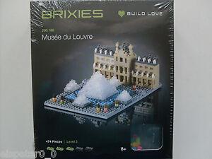Brixies 200.166 - Musee Du Louvre, 3D Puzzle, Mini Blocs 474 Pièces