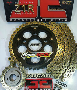 DUCATI 1099 R S '09-12 JT Z1R CHAIN AND SPROCKETS KIT w/SuperSprox *Premium Kit*