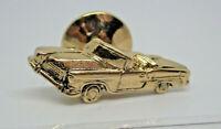 Convertible Car Gold Tone Retro Vintage Metal Lapel Pin