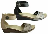 NEW PLANET SHOES DEEP WOMENS LEATHER COMFORTABLE LOW HEEL WEDGE SANDALS