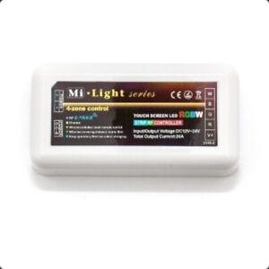 RGB and RGBW 2.4GHz RF 4-Zone Led Strip Controller 4ZRGBW