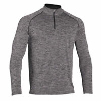 Mens Shirt 1/4 Zip T-Shirt Compression Top Long Sleeve Gym Wear Running Tights