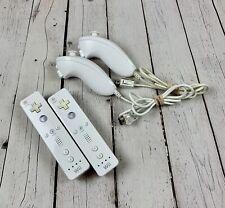 Nintendo Wii Original Remote Controllers With Nunchucks Lot RVL-003 Untest