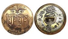 Ancien Bouton de Livrée, Alliance. Lettres FF. 29 mm. Button France. Vers 1880