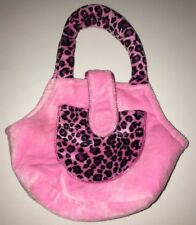 Webkinz Purse Plush Pet Carrier Pink Leopard Cheetah Print No Code