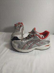 Asics Gel Athletic Shoes  Size 8.5 US TQ676 Gray white Red