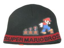 New Super Mario Bros Power Up Hat Beanie Skull Cap in Black Red *MINT* NES
