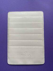 OMEGA LEATHER CARD HOLDER - WHITE