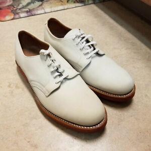 Original 1950's Walkover Vtg White Bucks Shoes 10 Unworn!