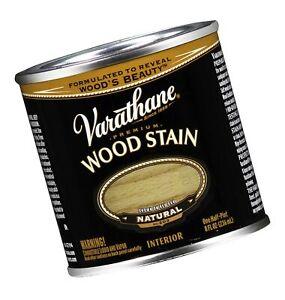 Varathane 211755 Premium Wood Stain, Half Pint, Natural