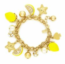 Kate Spade Lemon Tart Charm Bracelet NWT When Life Gives You Lemons...Lemonade!
