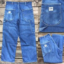 Vintage 60s LEE Talon Zip-up Carpenter Denim Jeans Men's 36x30 (33x28)