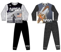 Boys NASA Astronaut Rocket Space Landing Pyjama Set Pjs Age 5-11 Years