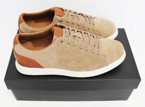 NIB ALFANI Men's Benny Tan Beige Suede Leather Low Top Dress Sneakers Shoes