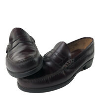 GH Bass Burgundy Mens 13D Weejuns Penny Loafers