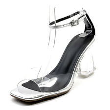 Womens Open Toe Clear Transparent High Heel Strappy Shoes Sandals Pumps
