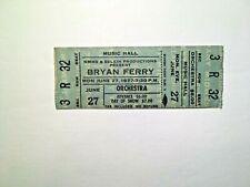 Vintage 1977 Bryan Ferry Full Cleveland Concert Ticket