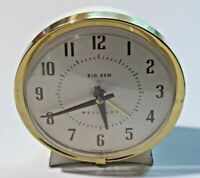 Westclox Big Ben Wind Up Alarm Clock 75-102-4A Cream & Gold Metal Non Working