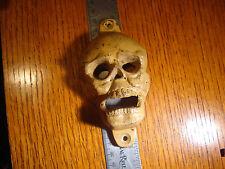Skull Wall Mounting cast iron bottle opener beer soda pop