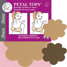Braza Petal Tops - Reusable Nipple Covers Color Cocoa 1 pair