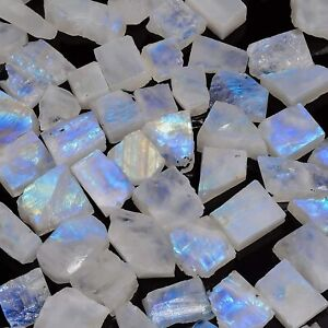Loose Gemstone 21.40 Ct 100/% Natural Moonstone Fire Rainbow Free Shipping With Extra Gift
