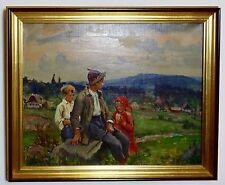 Ölgemälde eines Tschechischen Künstlers um 1930 - 1940  / Jos Fraka signiert