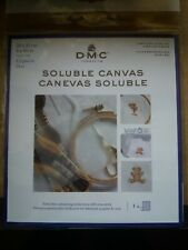 PACK OF DMC 14 COUNT SOLUBLE CANVAS 8 x 8½ Inch 20 x 22cm TRANSPARENT DC90