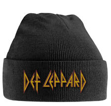 Def Leppard Embroidered Logo Beanie Hat Official Hard Rock Metal Band Merch