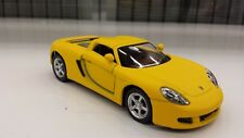 Porsche Carrera GT matte yellow kinsmart TOY model 1/36 scale diecast open doors