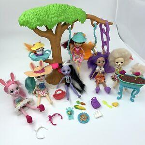 Enchantimals Dolls Animal Bundle Flick Playground Accessories Tree Swing Garden