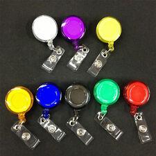 Retractable Recoil Reel ID Card Clip Name Tag Badge Lanyard Key Holder Belt Clip