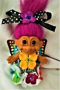 Rebel an ooak custom troll doll 4.5 inch Russ fairy butterfly