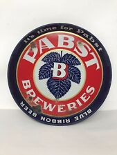"""Vintage 1940's Rare Pabst Breweries Beer Tray 12"""" diameter does not have """"ale"""""""