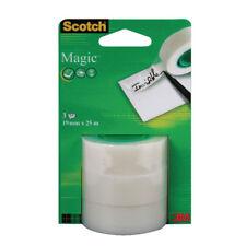 Scotch Magic Tape 19mmx25m Refill Rolls (Pack of 3) 8-1925R3