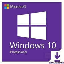 Microsoft Windows 10 Professional Pro 32 64 Bit Vollversion Produkt Product Key