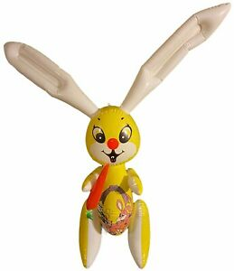 """48"""" Cute Yellow Bunny Rabbit With Carrot Inflatable Blow Up Toy Party Decoration"""