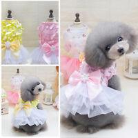 Cute Dog Cat Tutu Dress Lace Skirt Pet Puppy Princess Costume Wedding Clothes