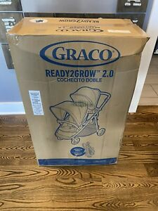 Graco Baby Ready2Grow 2.0 Double Stroller, Rafa Fashion/Grey - NEW/Opened 2021