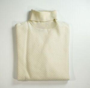 NEW STEFANO RICCI LOGO Sweater Cashmere Silk  Size M Us 50 Eu (M14)