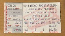 1987 MOTLEY CRUE GUNS N' ROSES HOLLYWOOD FL APPETITE TOUR CONCERT TICKET STUB 84