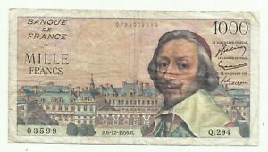 1000 FRANCS RICHELIEU 06/12/1956