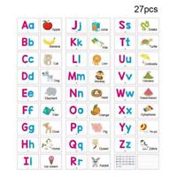 Alphabet Cards A-Z Kids Toddlers Preschool Early Learning Sen Resource W8L4