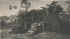 WW1 Soldado CPL Wodhams Aif Fotógrafo? Destruido Alemán Artillería Posición