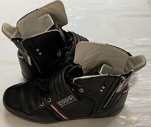 Coogi Australia Men's Leather Lace-Up High Top Shoes  Black Size 13
