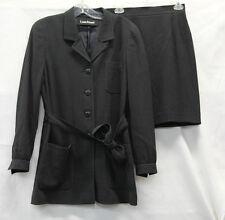 Louis Feraud Womens Skirt Suit Black White Dots No Size Excellent Used Con 2441