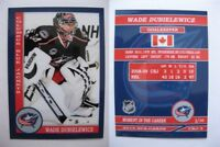 2015 SCA Wade Dubielewicz Columbus Blue Jackets goalie never issue produced #/10