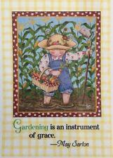 Mary Engelbreit Handmade Magnet-Gardening Is An Instrument Of Grace