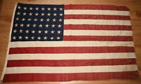 Vintage USA 48 Star Flag 44X68 Inches Tattered and Worn but Still Awesome
